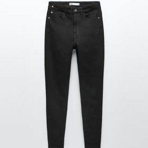 """NWT Zara Black """"Washed Effect"""" Skinny HiRise Jeans"""